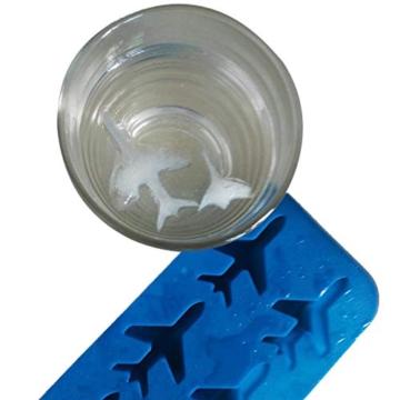 DonJordi Eiswürfelform in Form eines Flugzeug aus Silikon - Geeignet als Eisformen oder für Schokolade - 3