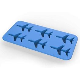 DonJordi Eiswürfelform in Form eines Flugzeug aus Silikon - Geeignet als Eisformen oder für Schokolade - 1