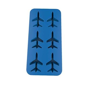DonJordi Eiswürfelform in Form eines Flugzeug aus Silikon - Geeignet als Eisformen oder für Schokolade - 4