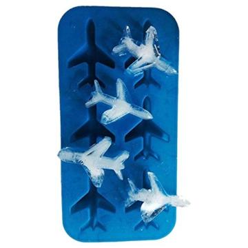 DonJordi Eiswürfelform in Form eines Flugzeug aus Silikon - Geeignet als Eisformen oder für Schokolade - 7