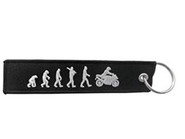 DonJordi Schlüsselanhänger EVOLUTION - Das Geschenk für Biker & Motorradfahrer - Anhänger aus Stoff - 1