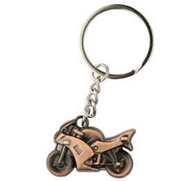 DonJordi Schlüsselanhänger Metall für alle Motorradfahrer & Biker - In schöner Geschenkbox (bronze) - 1