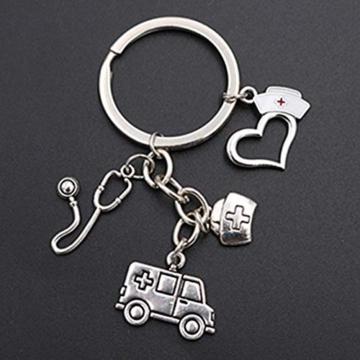 DonJordi Schlüsselanhänger Pflege - Geschenk für Ärzte, Pfleger und Krankenschwester aus Metall - 2