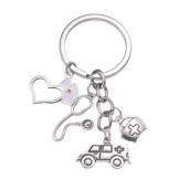 DonJordi Schlüsselanhänger Pflege - Geschenk für Ärzte, Pfleger und Krankenschwester aus Metall - 1
