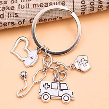 DonJordi Schlüsselanhänger Pflege - Geschenk für Ärzte, Pfleger und Krankenschwester aus Metall - 3