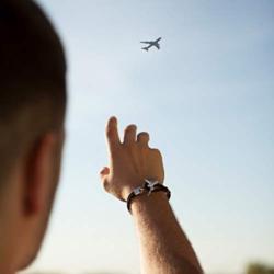 DonJordi Armband Flugzeug Schwarz 21 cm Länge – 5