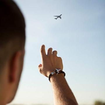 DonJordi Armband Flugzeug Schwarz 21 cm Länge - 5