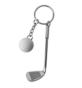 DonJordi Schlüsselanhänger Golfschläger mit Golfball - Das Geschenk für alle Golfspieler - Tolle Geschenkideen für Golfer - 1