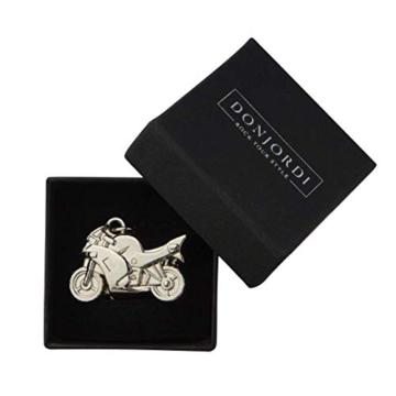 DonJordi Schlüsselanhänger Metall für alle Motorradfahrer & Biker - In schöner Geschenkbox (silber) - 2