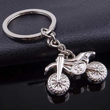 DonJordi Schlüsselanhänger Motorrad Motocross aus Metall - Das Geschenk für alle Biker und Motorradfahrer - Anhänger als Moto Cross Maschine - 2