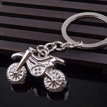 DonJordi Schlüsselanhänger Motorrad Motocross aus Metall - Das Geschenk für alle Biker und Motorradfahrer - Anhänger als Moto Cross Maschine - 3