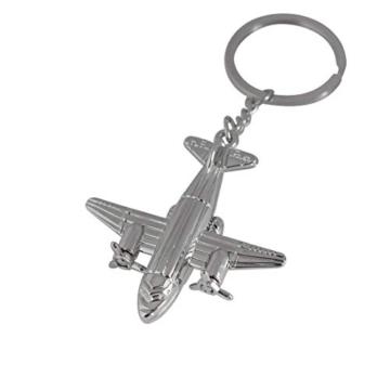 DonJordi Schlüsselanhänger Transportflugzeug aus Metall - Das ideale Geschenk für Piloten, Flugbegleiter & Reisefreunde - 1