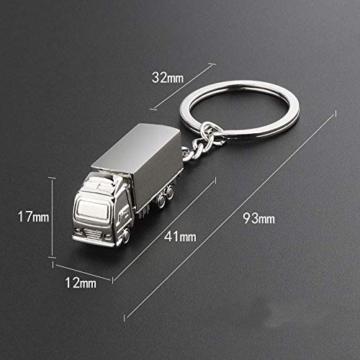 DonJordi Schlüsselanhänger Truck LKW aus Metall - Das Geschenk für alle Brummi Fahrer & Trucker - 2