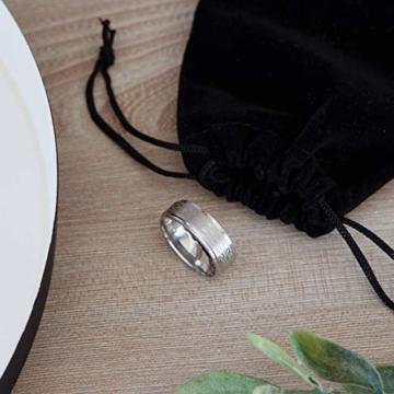 DonJordi Wolfram Ring Herren/Damen Keltisch 8mm mit keltischen Knoten Design für Hochzeit, Verlobungsring, Geburtstag und als Ehering - Rock your style! (52 (16.6)) - 8